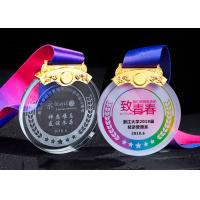 Best White Transparent Crystal Metal Award Medals For Kids In Drawing Competion wholesale