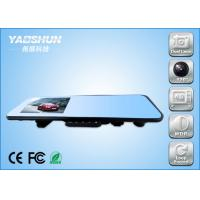 Wifi Dual Camera Car DVR H.264 Compression , Rear View Mirror Recorder
