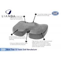 China Coccyx Orthopedic Comfort Memory Foam Seat Cushion with zippered cover on sale