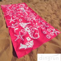 China Full Color Reactive Custom Printed Beach Towels Easy Carrying Eco Friendly on sale