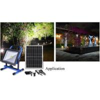 Best Portable rechargeable Led flood light with solar panel Garden lighting project  emergency light wholesale