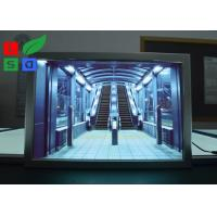 China Portrait View LED Snap Frame Light Box 24x36 24x48 Size For Advertising on sale