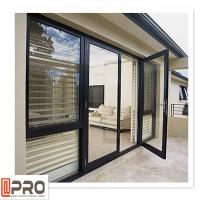 China Multi Color Hinged Security Doors , Sound Insulation Aluminium Glass Front Door on sale