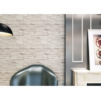 China Interior Home Decoration 3D Brick Effect Wallpaper / Yellow Fake Brick Wall Covering on sale