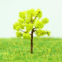 Best Plastic Miniature Model Trees Yellow Green Avenue Planting Wire Tree 3.5cm wholesale