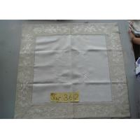 Best Handmade Hemstitch Party Linen Tablecloths , Full Sizes Large Linen Tablecloth wholesale