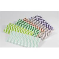 Christmas colorful striped paper straws