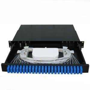 China 48 Port ODF Fiber Optic Terminal Box Sc Rack Type Pc Plastic Material on sale