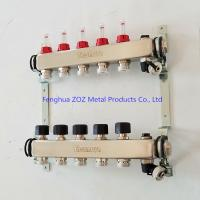 China 5 Port stainless steel water manifolds for underfloor heating system on sale