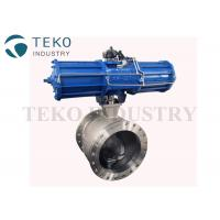Best Wafer End Metal Seated V Port Segment Ball Valve With ISO Mounting Pad wholesale