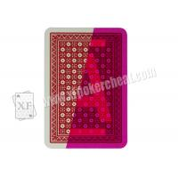 China Magic Show Invisible Playing Cards  , Italy Modiano Poker Cards Ramino Super Fiori on sale