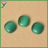 Best wholesale price green emerald Square Cushion Cabochon Synthetic Cat Eyes Stones wholesale