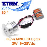 Best Aluminium Shell DC12/24V 3W 60° Super Bright MINI LED Downlights Cabinet Light Spotlight wholesale