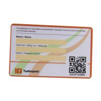 Buy cheap Full Color Plastic flat Barcode & QR code gift Card for promotion from wholesalers