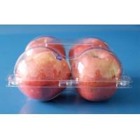 Best fruit packaging container for apples 4 pcs disposable plastic fruit packaging punnets FDA EU offer wholesale