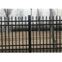 Cheap Interpon Coated Bronze Wire Full Weld Garrison Steel Picket Fence Industrial Security Fencing for sale