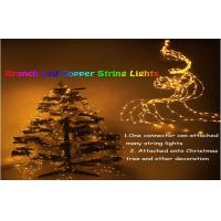 China Decorative 10m Led Outdoor String Lighting Yellow For Christmas Tree on sale