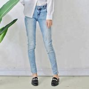 Best Ice Blue Women Denim Skinny Jeans Pencil Pants Full Length Comfortable wholesale