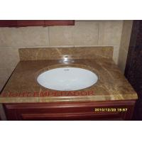 Best Yellow Beige Honed Granite Countertops , Granite Stone Kitchen Countertops wholesale