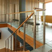 China Steel Post Supports Stainless Steel Balustrade Posts for Wire Railing System on sale