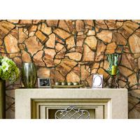 Cheap 3D Effect Stone Pattern Durable Popular Wallpaper For House Wall With Pvc Material for sale