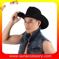 Best 6200372 Sun Accessory customized  winner  fashion  wool felt west cowboy hats, men hats and caps wholesaling wholesale