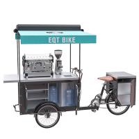 China Stainless Steel Coffee Bike Cart User Friendly Convenient Operation on sale