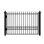 Best House Gates Design Garden Black Iron Fence Panels , Outdoor Metal Fence wholesale