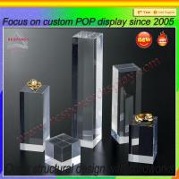 China POP customized acrylic jewelry display stand for ring on sale