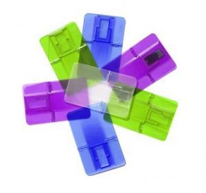 Best Transparent customized printed logo plastic usb credit card flash drive pendrive 1G, 4G, 16G, 32G wholesale