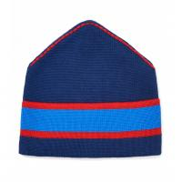 China Striped Slouchy Beanie Hat Womens , Soft Warm Hand Knitted Beanies For Winter on sale