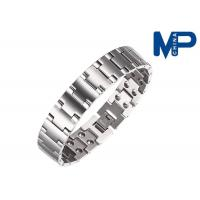 Buy cheap Women and men promotional metal bracelet nickel brushed finish from wholesalers