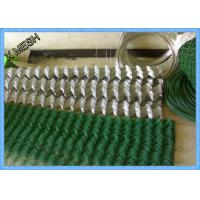 Best PVC Coated 2x2 Steel Chain Link Fence 1.8 X 15 Meters For Road Fencing wholesale
