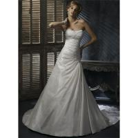 Best Ivory Taffeta Wedding Dress Bridal Gown Embellished Lace wholesale
