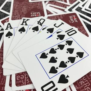 Best 2.25 X 3.5 Inch Custom Printed Playing Cards 3D UV Printing wholesale