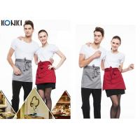 Best Woven Cotton Cute Cooking Aprons , Short Red Apron For Men And Women wholesale