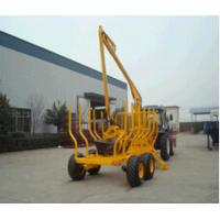China Forest Machinery Hydraulic Log Trailers with Crane with loading capacity 8000kgs on sale