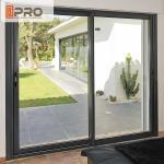 Best Big Size Black Aluminum Sliding Doors For Dining Room With Thermal Break Design Slide and stack doors Sliding interior wholesale