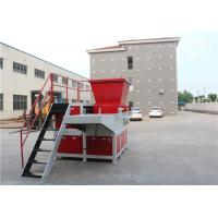 Best Grinding Rubber Plastic Drum Shredder , Industrial Plastic Shredder Machine wholesale