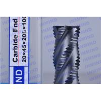 Best 2.4 mm Pitch AlTiN Coating Rough Cut End Mill , 4 Flute Solid Carbide Drill Bits wholesale