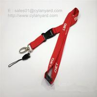 China Custom print polyester lanyard with detachable release buckle on sale