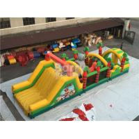 China Challenging Inflatable Obstacle Course Bounce House Red , Blue , Black on sale