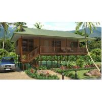 Cheap Light Steel Framing Wooden Bungalow /  High Acoustic Insulation Home Beach Bungalows for sale