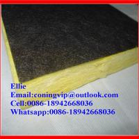 China Fiberglass wool board with black tissue onone side on sale