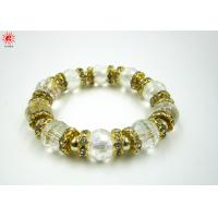 China Crystal Transparent Bead Charm Bracelets Unisex For Anniversary Gift on sale
