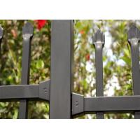 Cheap High Security Garrison Fencing Panels Interpon Powder Coated Black for sale