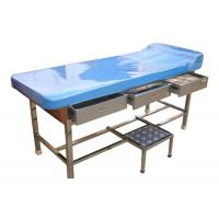 Best Stainless Steel Doctor Examination Table With Drawers / Movable Step Stool wholesale