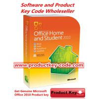 China Brand New Microsoft Office 2010 Key Code , Genuine Office Home and Student 2010 FPP ESD Key for 3 PCs on sale