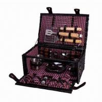 Best Picnic and BBQ Basket for 4 Persons, Made of Steamed Willow wholesale