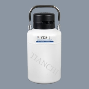 China liquid nitrogen dewar 2 liter liquid nitrogen container 1 liter with lock cover Aluminum Alloy storage or transport on sale